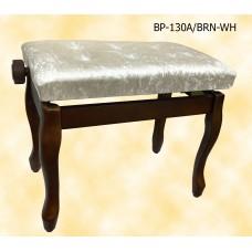 Банкетка для пианино или рояля BRAHNER BP-130A/BRN-WH
